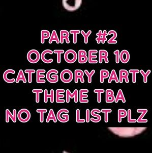 Category party October 10
